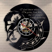 David Bowie Vinyl Wall Clock