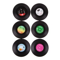 Vinyl Record Drinks Coasters