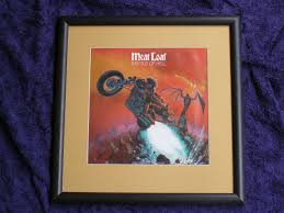 framed bat out of hell album cover