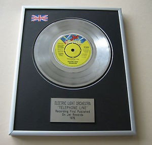 framed elo telephone line vinyl single