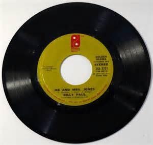 billy paul me & mrs jones vinyl single