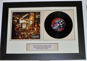framed oasis vinyl single