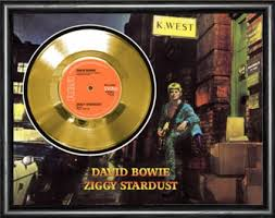framed david bowie vinyl single